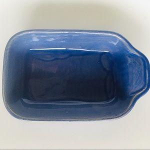 Blue Ceramic Individual Rectangular Bakeware Dish